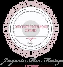 Logo officiante de cérémonie certifiée