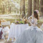 Un décor originale de mariage avec la mariée