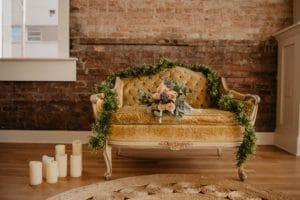 Salon vintage avec canapé
